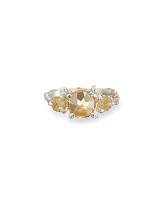 Chupi - Metallic Tiny Twinkle In The Wild Citrine Ring In Silver - Lyst