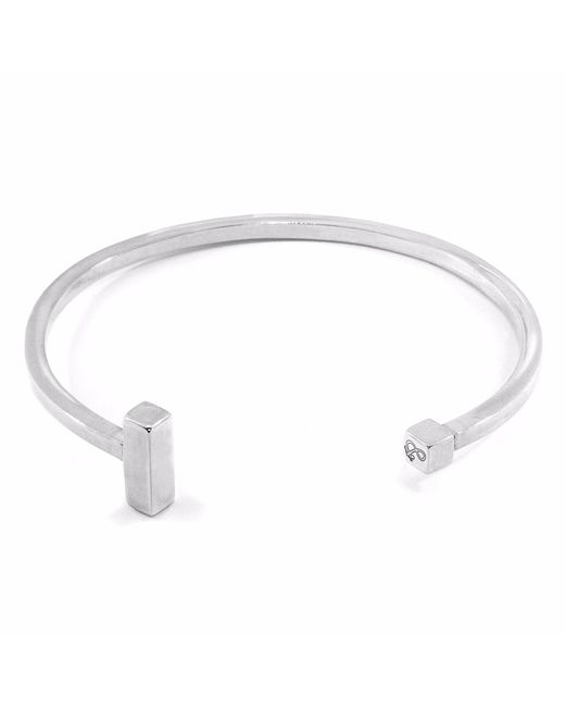 Anchor & Crew - Metallic Faris Square Midi Silver Bangle for Men - Lyst