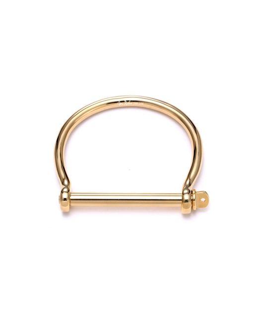 Opes Robur - Metallic Mens Gold Screw Cuff Bracelet for Men - Lyst