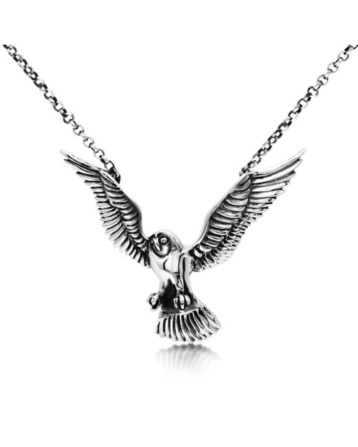 Hjälte Jewellery - Metallic Owl Necklace - Lyst