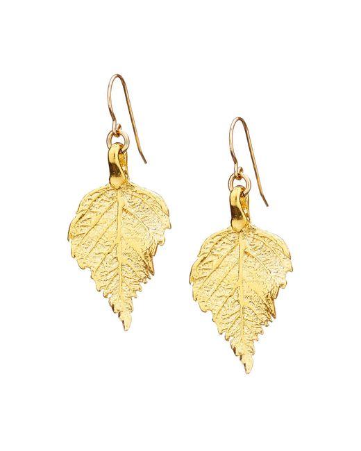 Chupi - Metallic Tiny The Sweetest Thing Raspberry Leaf Earrings - Lyst