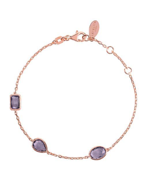 Latelita London - Multicolor Venice Bracelet Rosegold Amethyst - Lyst