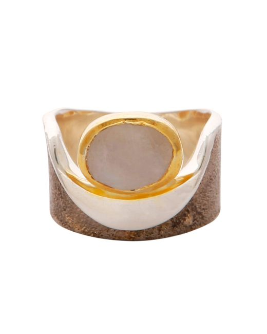 Carousel Jewels - Metallic Moonstone Gold And Silver Pocket Ring - Lyst