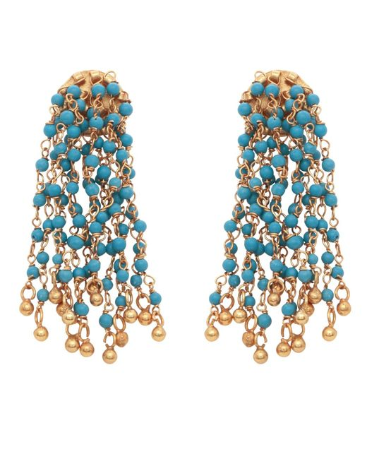Carousel Jewels - Blue Turquoise Waterfall Earrings - Lyst