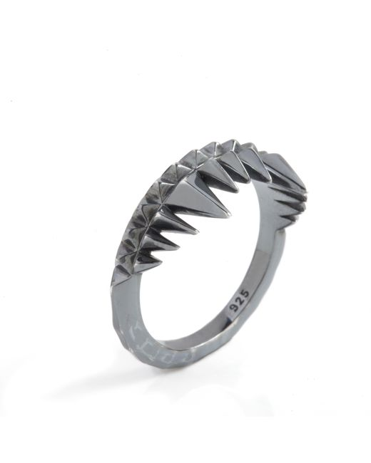 Kasun - Crocodile Bite Ring Black - Lyst