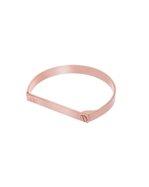 Opes Robur - Multicolor Rose Gold Screw On Love Bracelet - Lyst