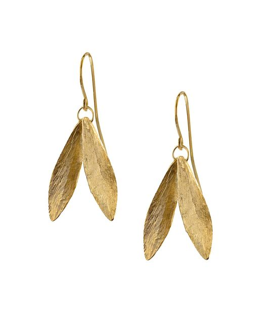 Catherine Zoraida - Metallic Double Leaf Earring - Lyst