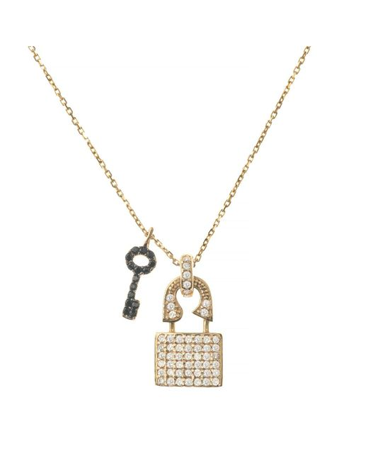 Talia Naomi | Metallic Unchain Me Necklace | Lyst