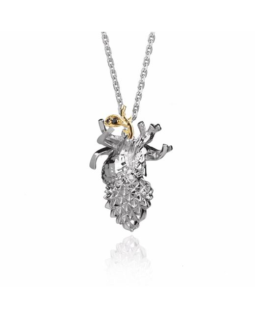 Kasun - Metallic Forbidden Heart – Silver - Lyst