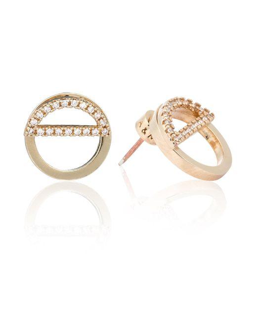 Astrid & Miyu - Metallic Half Circle Ear Jacket In Gold - Lyst