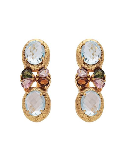 Carousel Jewels | Symmetrical Blue Topaz & Tourmaline Earrings | Lyst