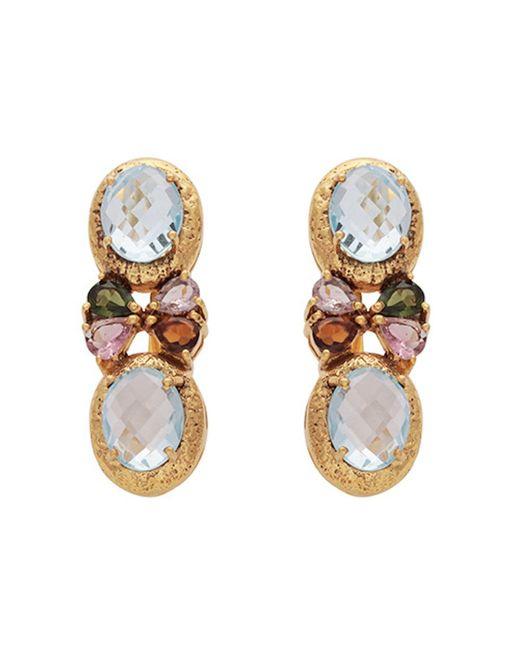 Carousel Jewels - Symmetrical Blue Topaz & Tourmaline Earrings - Lyst