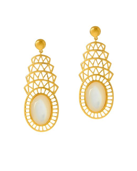 Alexandra Alberta | Metallic Khrysler Pearl Earrings | Lyst