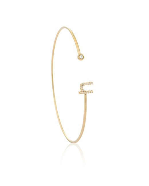 Astrid & Miyu - Metallic Gold Initial N Bangle - Lyst
