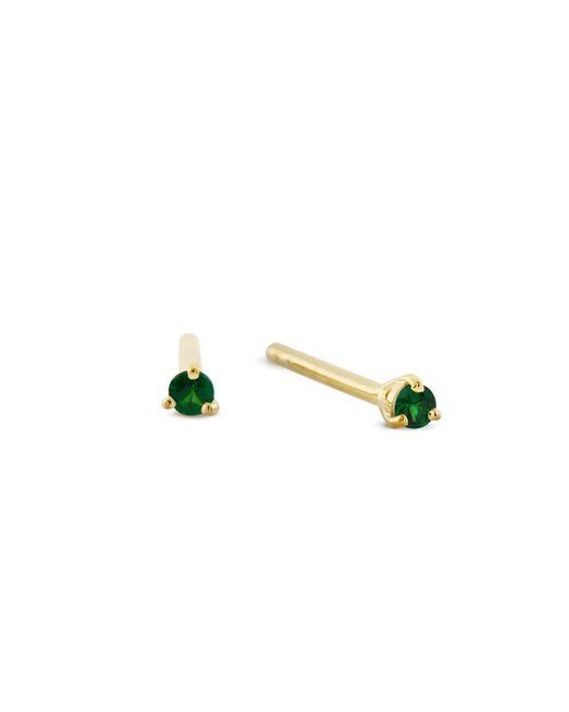 Monarc Jewellery - Green Signature Tsavorite Stud Gold Vermeil - Lyst
