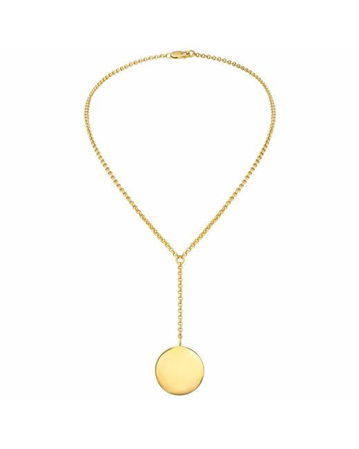 Charlotte Bird Jewellery   Metallic Gold Lariat Necklace   Lyst