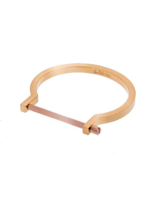 Opes Robur   Metallic Gold And Rose Classic Screw Cuff Bracelet   Lyst