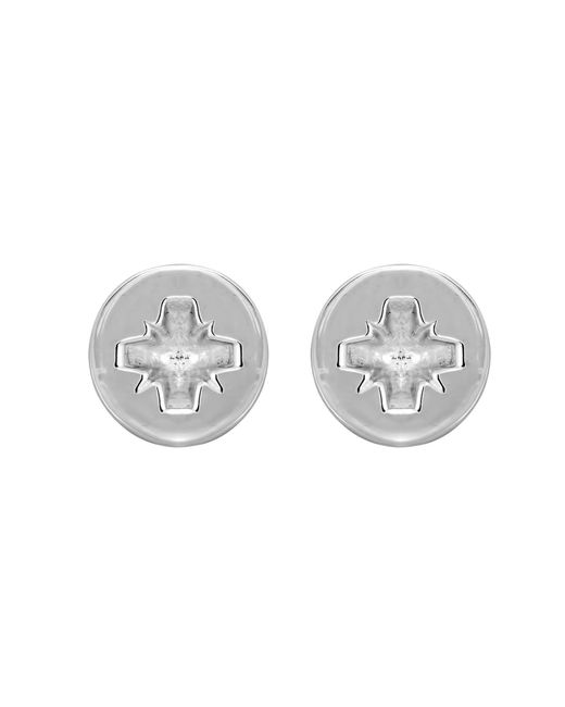 Edge Only - Metallic Phillips-head Screw Earrings Silver - Lyst