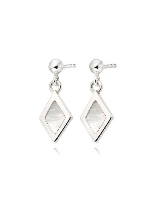 Senin - Metallic Sweet Infinity Diamond Drop Ear Studs - Lyst