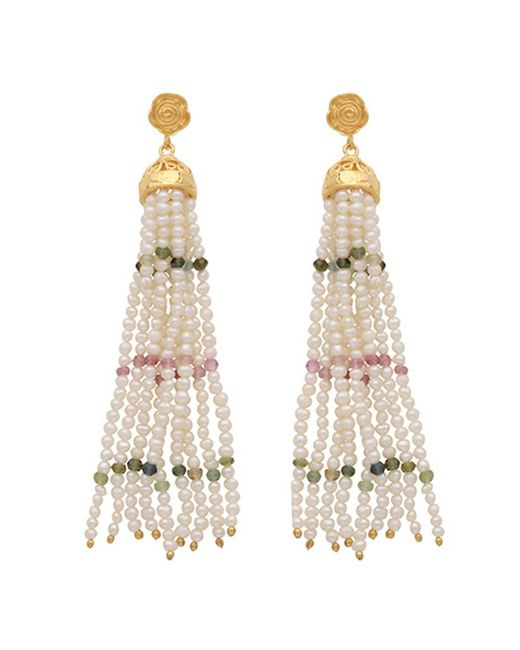 Carousel Jewels - Multicolor Pearl Rose Quartz & Green Onyx Waterfall Earrings - Lyst