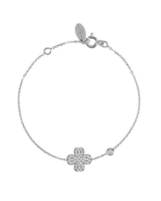 Latelita London   Metallic Lucky Clover Bracelet Silver   Lyst