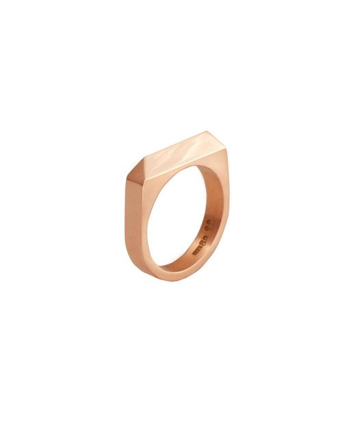 Edge Only - Metallic Rooftop Ring Gold - Lyst
