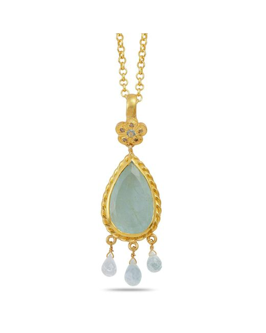 Emma Chapman Jewels | Metallic Alyce Aquamarine And Diamond Pendant | Lyst