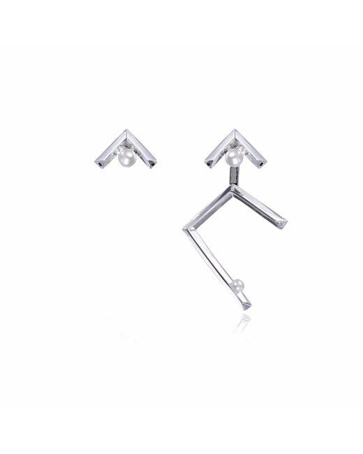 Sonal Bhaskaran - Metallic Ika Asymmetric Earrings - Lyst