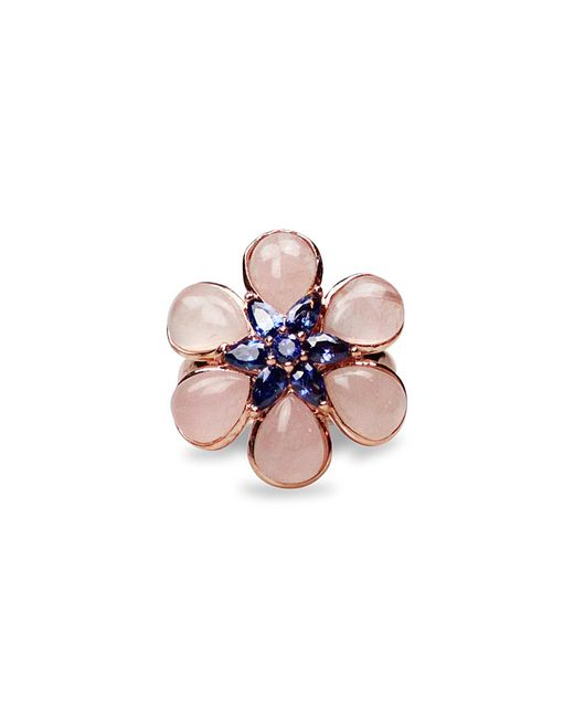 Bellus Domina - Gray Amare Flower Ring - Lyst