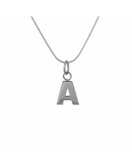 Edge Only - Metallic Letter Necklace In Silver - Lyst