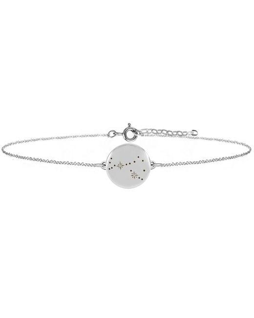 No 13 - Metallic Scorpio Zodiac Constellation Bracelet Diamonds & Silver - Lyst
