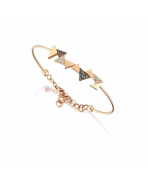 Sadekar Jewellery   Multicolor Mixed Triangle Bracelet   Lyst