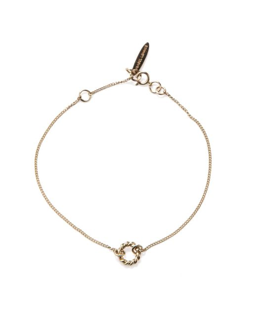 Isabel Lennse | Metallic Extra Small Twisted Circle Gold Bracelet | Lyst