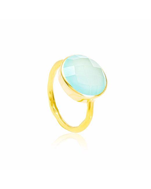 Auree Jewellery - Metallic Pisa Aqua Onyx & Hammered Gold Vermeil Ring - Lyst