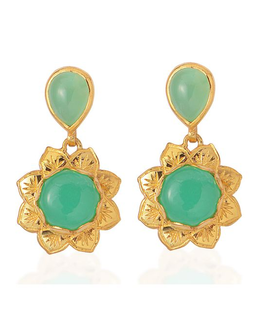 Emma Chapman Jewels - Green Isa Chrysoprase Earrings - Lyst