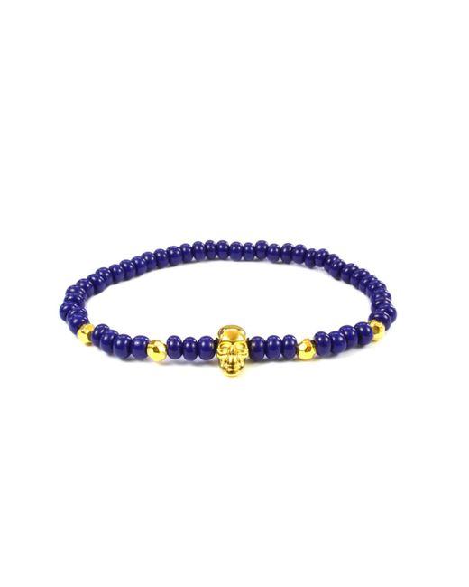 CLARISTE JEWELRY | Men's Skull Bracelet Royal Blue & Gold for Men | Lyst