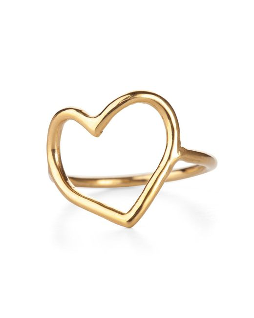 Chupi | Metallic My Heart Is Open Ring Gold | Lyst