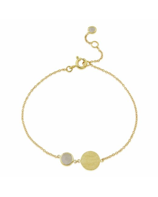 Auree Jewellery - Metallic Bali 9ct Gold June Birthstone Bracelet Moonstone - Lyst