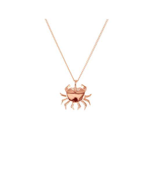 Origami Jewellery - Metallic Mini Crab Necklace Rose Gold - Lyst