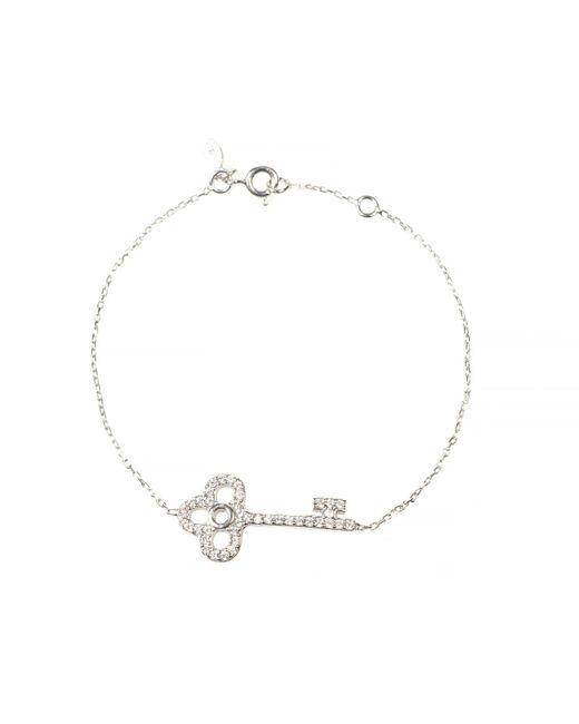 Latelita London | Metallic Key Bracelet Silver | Lyst