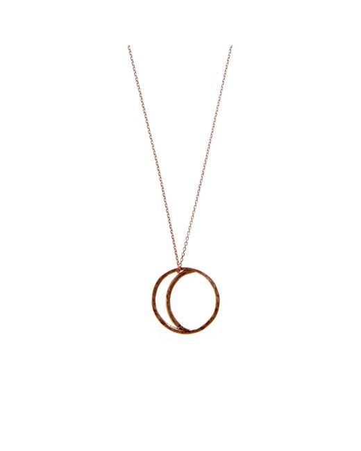 KIND Jewellery | Metallic Rose Gold Crescent Lune Pendant Necklace | Lyst