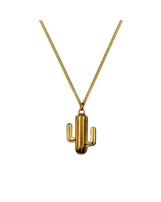 Lee Renee | Metallic Cactus Necklace Gold Vermeil | Lyst