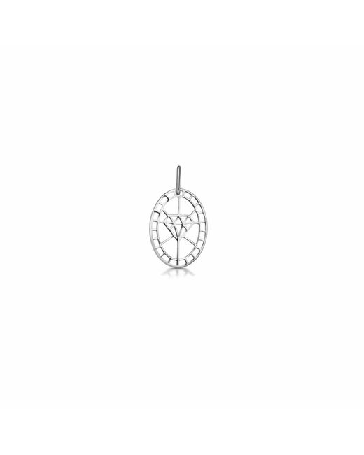 One and One Studio - Metallic Sterling Silver Diamond Shape Cut Out Pendant - Lyst
