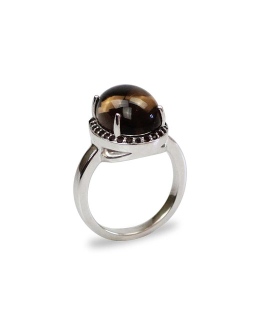 Bellus Domina - Brown Smoky Quartz Silver Ring - Lyst