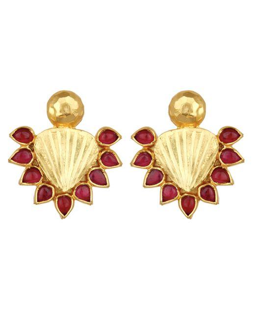 Carousel Jewels | Metallic Red & Gold Statement Earrings | Lyst