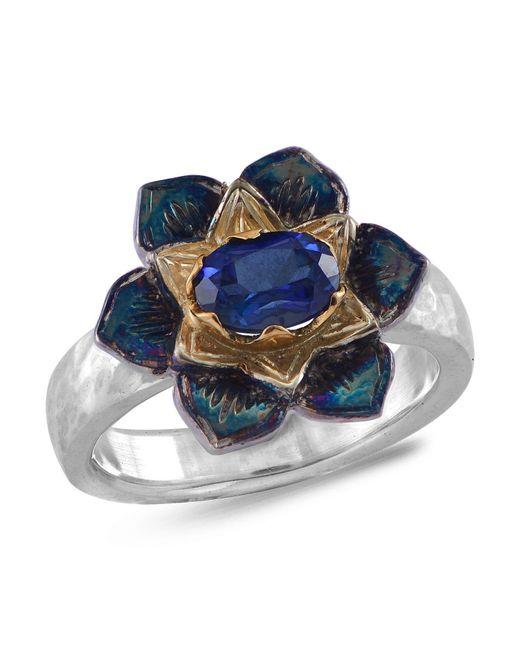 Emma Chapman Jewels   Lotus Blue Sapphire Ring   Lyst