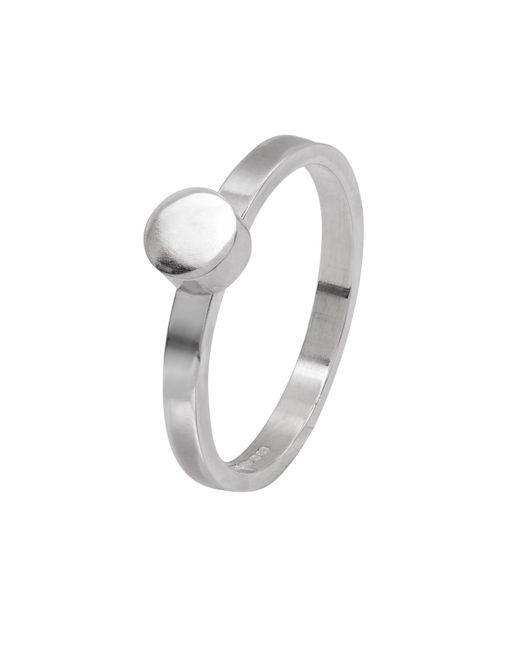 Edge Only - Metallic Circle Stacking Ring - Lyst