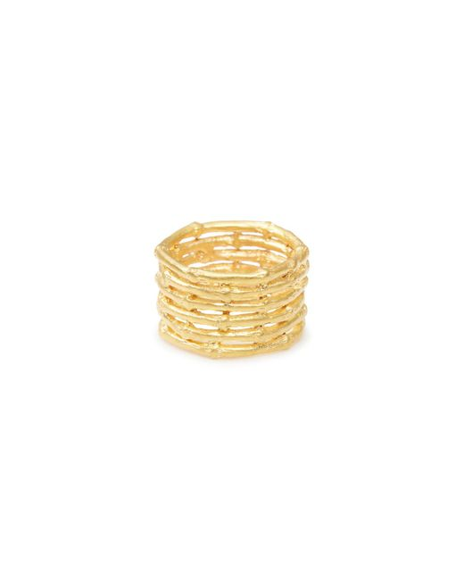 Yucama - Metallic Bamboo Stacked Ring Silver - Lyst