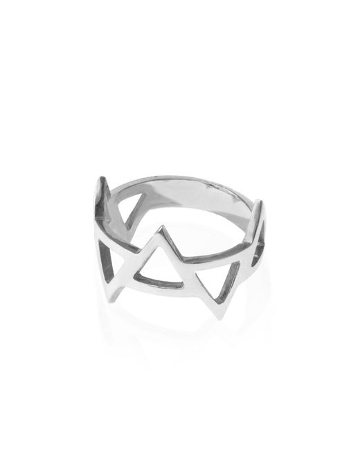 Sally Lane Jewellery - Metallic Ladder Of Life Silver Ring - Lyst