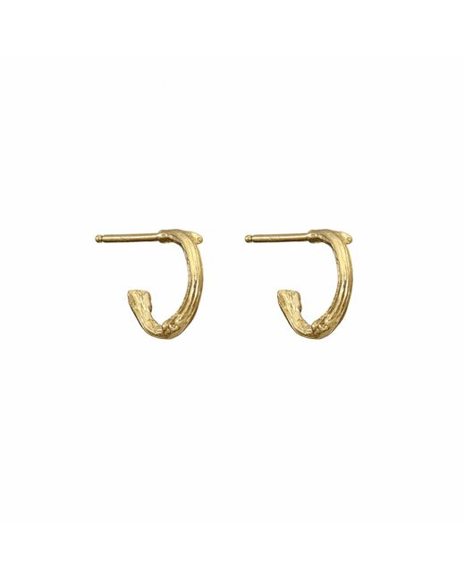 Chupi - Metallic Love Is All You Need Tiny Earrings In Gold - Lyst